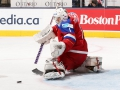 TORONTO, CANADA - DECEMBER 29: Russia's Ilya Sorokin #1 makes a pad save on this play during preliminary round action against Sweden at the 2015 IIHF World Junior Championship. (Photo by Andre Ringuette/HHOF-IIHF Images)