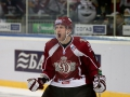 Kyle Wilson (18) of Dinamo Riga celebrates the goal